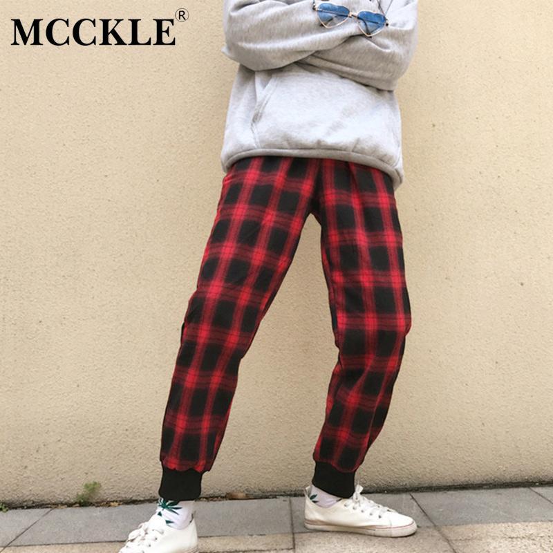 Pantalones harem de patchwork a cuadros de hombre de longitud completa casual pantalones de pierna ancha de streetwear para hombre 2019 pantalones con cordón hombre harén