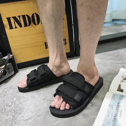 Black Hot sell summer Men flats sandals slippers casual shoes print mixed colors flip flop size 39-46