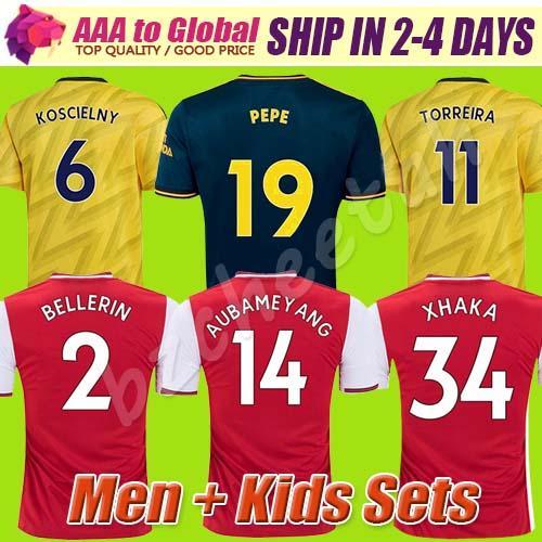 MEN футбол Джерси малышей комплектов обмундирования 2020 футбольные комплекты Арсена футбол Джерси 19 20 Тирни HENRY GUENDOUZI футбол рубашки футбола топы