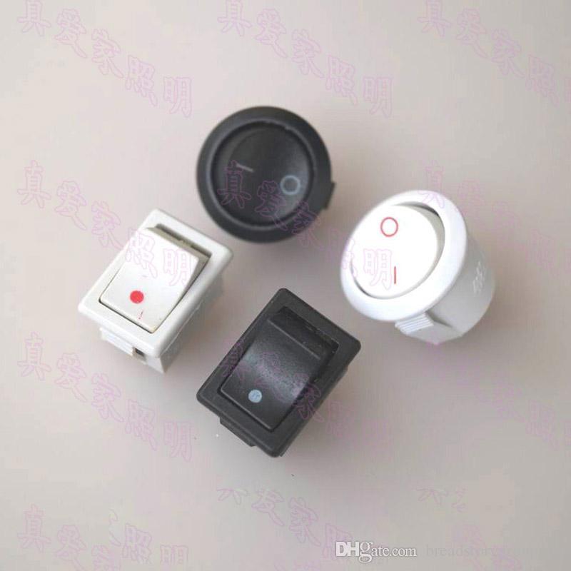 Interruttore Per Lampada.Acquista Piazza Piccolo Rotondo Rocker Switch Bianco Nero 220v Mini Interruttore Diy Lampada Da Tavolo Di Visualizzazione Stand A 0 26 Dal