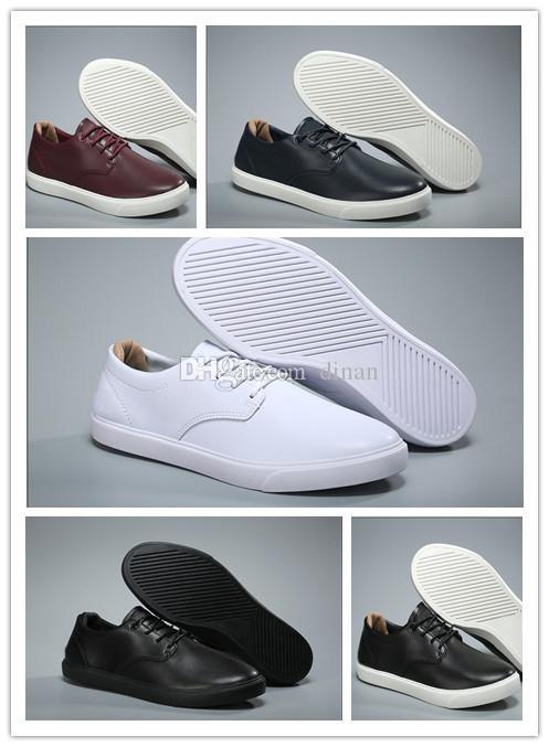 Großhandel Krokodil Marke Männer Schuhe Leder Freizeitschuhe Mode Turnschuhe Luxuxentwerfer Turnschuhe Lacos Großhandel verursachende Schuhe original box