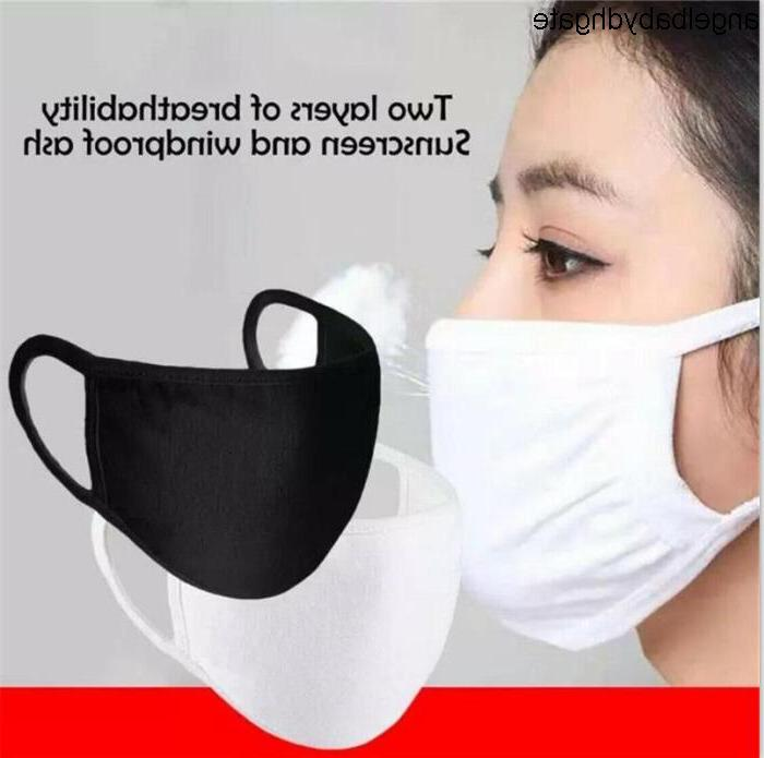 Masks Cotton Mask Mouth Face Dustproof Mask Unisex Cycling Wearing Black White Fashion Two Layer Mask