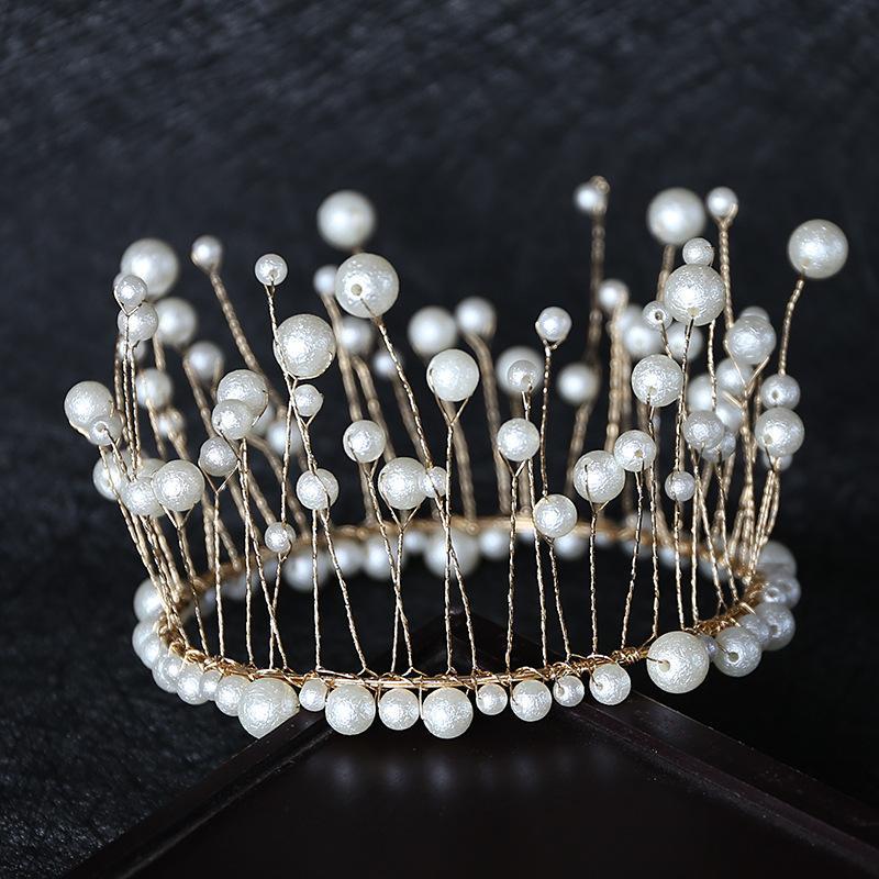 torta decorazione corona evidenziare perla alghe a mano da forno rotonda copricapo compleanno accessori gli accessori del partito dei capelli della sposa