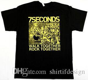 7SECONDS T camisa caminhar juntos conversar Punk Rock Tee Mens New