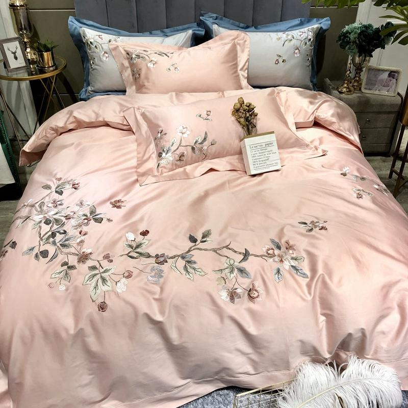 100S Egyptian Cotton Chinese Style Classical Flowers Embroidery Bedding Set Duvet Cover Bed Linen Bed sheet Pillowcases
