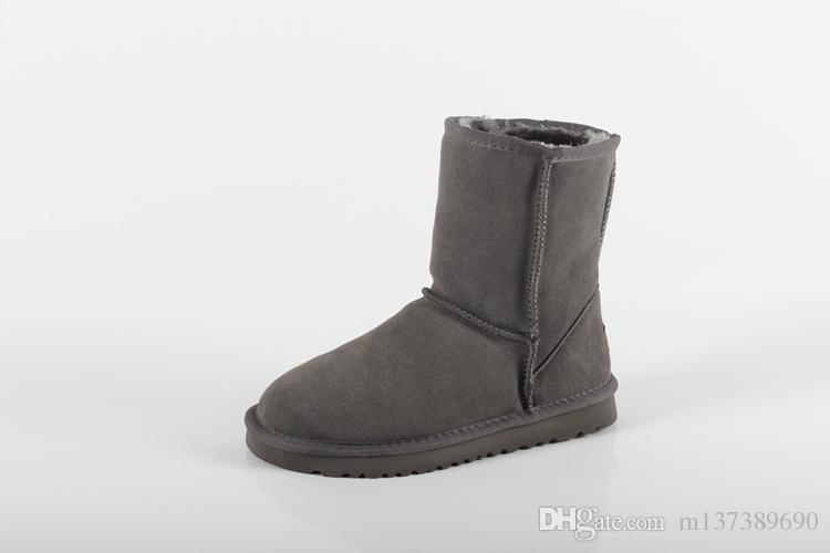Frauen Stiefel klassisches Australien Short Mini Sprunggelenk Knie Hoch Designer Stiefel Bailey Bow Männer Winter Schnee Booties 36-45 warm halte Neue Ankunft