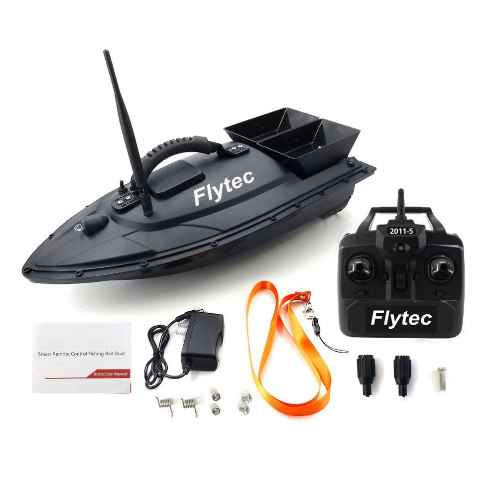FLYTEC 2011-5 рыбообнаружитель 1,5кг Загрузка 2pcs Танки Double Motors 500M дистанционного управления RC море Рыбалка Bait Лодка с Casting MX200414