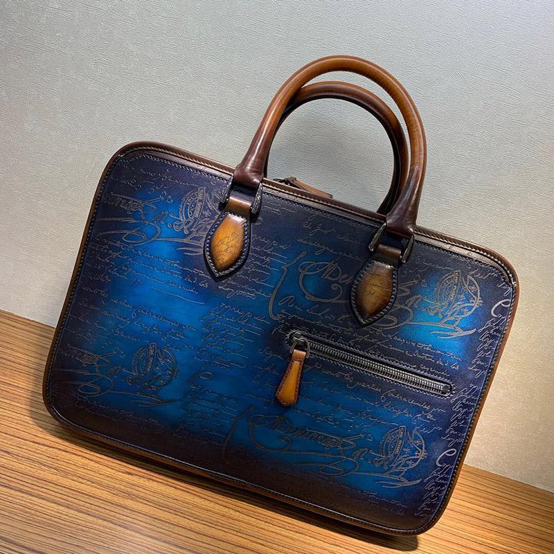 Seetoo сумочка буква ручной сумка мессенджер деловой плечо портфель мужская высококачественная любовь кожаная офисная сумка olleb