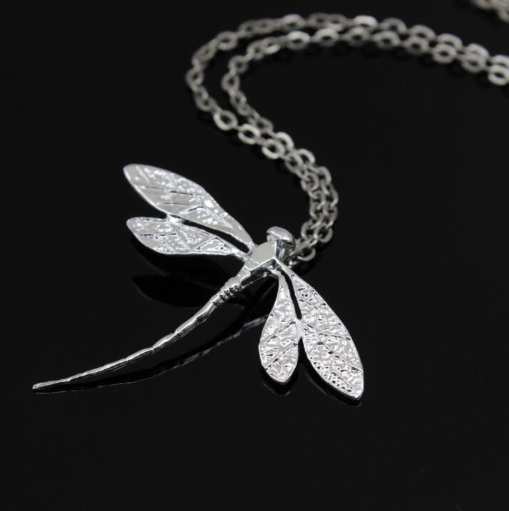 Sterling Silver Dragonfly Pendant Necklace