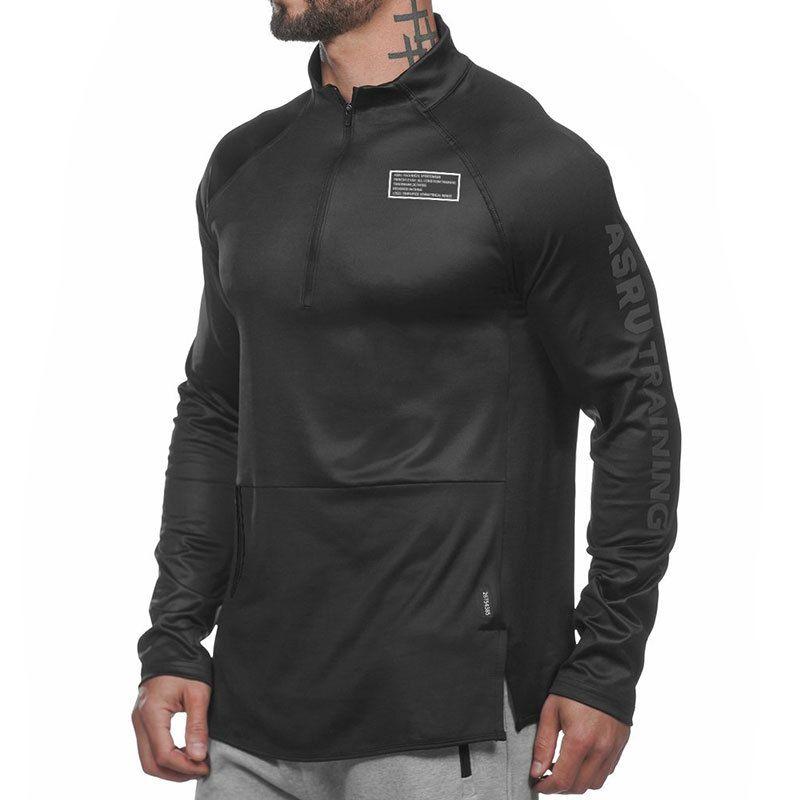 Herren Brief Casual Jogger Fitness Langarm T-Shirts Für Jungen New Athleisure Sport Workout Tops Tees Shirts XXL