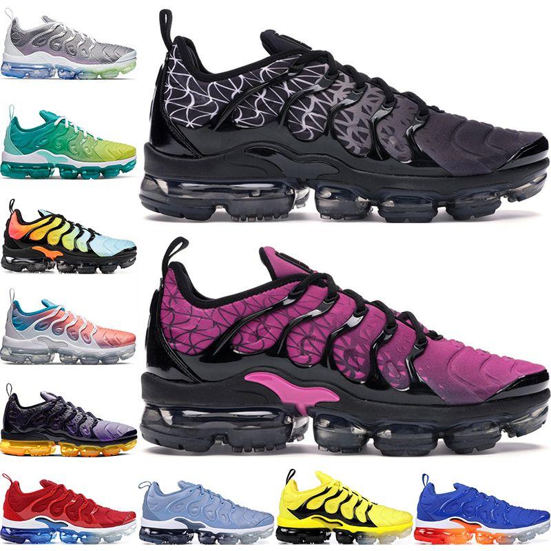بالإضافة إلى TN حلاق الرجال النساء أحذية رياضية فرط الأزرق غروب الشمس لعبة الملكي الترا أبيض أسود أفضل TN المدربين رياضة الجري أحذية 36-45