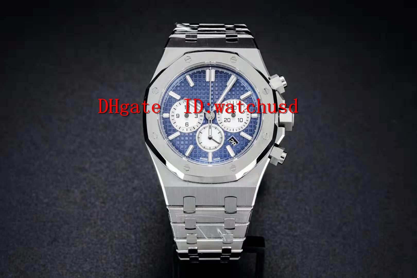 OM Fábrica ROYAL OAK Relógio de luxo 26331 Casual Assista Aço Inoxidável Relógios Sapphire 2385 cronógrafo automático mecânico sólido caso de volta