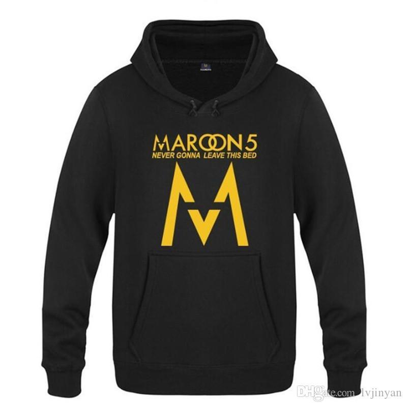 Moleton Roupa Hip Casual Mens Hoodie Moleton masculino Homens Impresso New Outono Inverno Maroon5 Hop Hoodies
