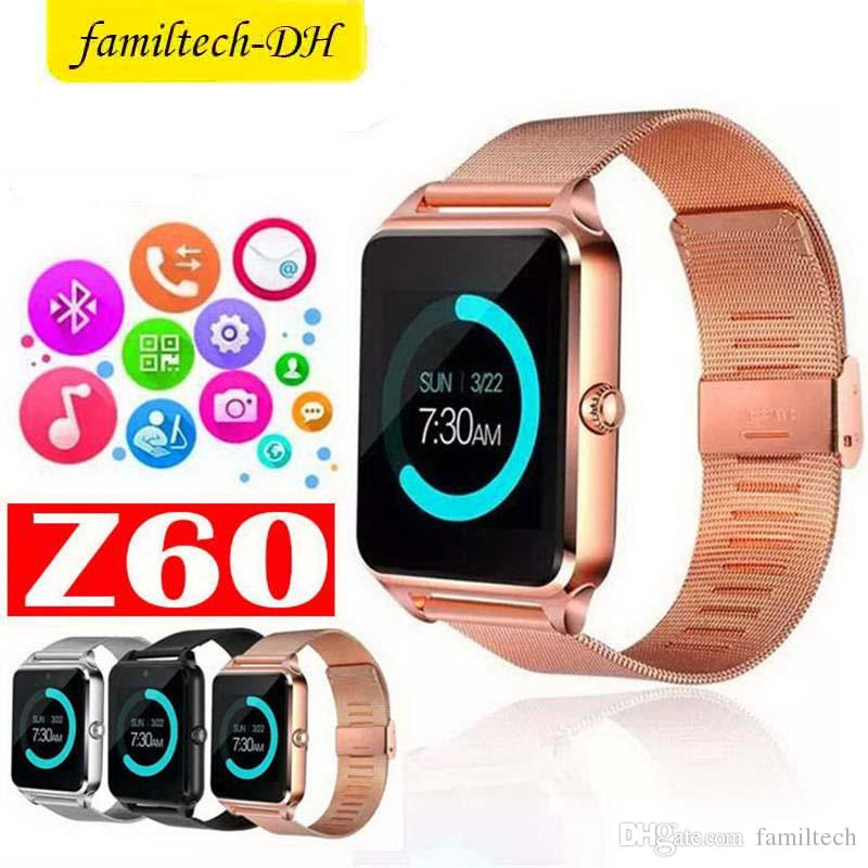 Z60 Bluetooth Smart Watch Men Smartwatch Android ios Phone Call 2G GSM SIM TF Card Camera Touch clock reloj inteligente Smart Bracelet