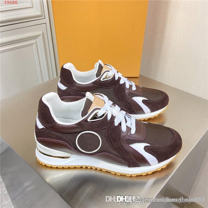 Uomini classiche scarpe di abbigliamento sportivo, di corrispondenza di colore sportivo in pelle della maglia di modo suole spesse Sportswear Scarpe Con scatola originale