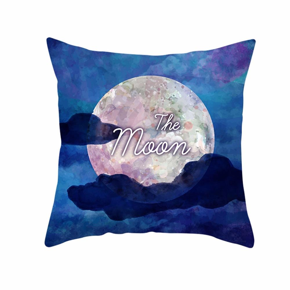 Muslim Ramadan Pattern Polyester Cushion Cover Pillow Case Home Decor Pillow Cases W610