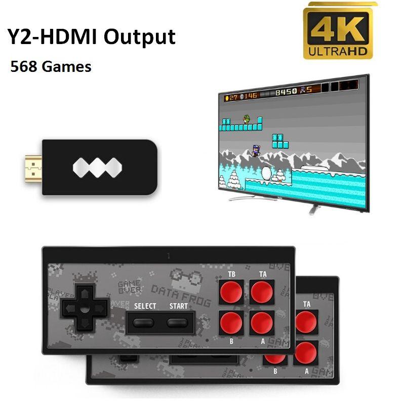 Dati più recenti FROG Y2 gioco portatile console senza fili 4K HD giocatore del video gioco di HDMI 568 AV 600 Retro Games Classic Handheld Joystick gioco