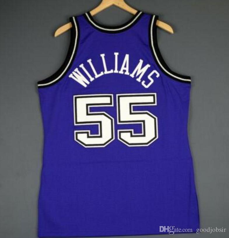 Benutzerdefinierte Männer Jugend Frauen Jahrgang Jason Williams Mitchell Ness 98 99 College Basketball-Jersey-Größe S-6XL oder benutzerdefinierten beliebigen Namen oder Nummer Jersey