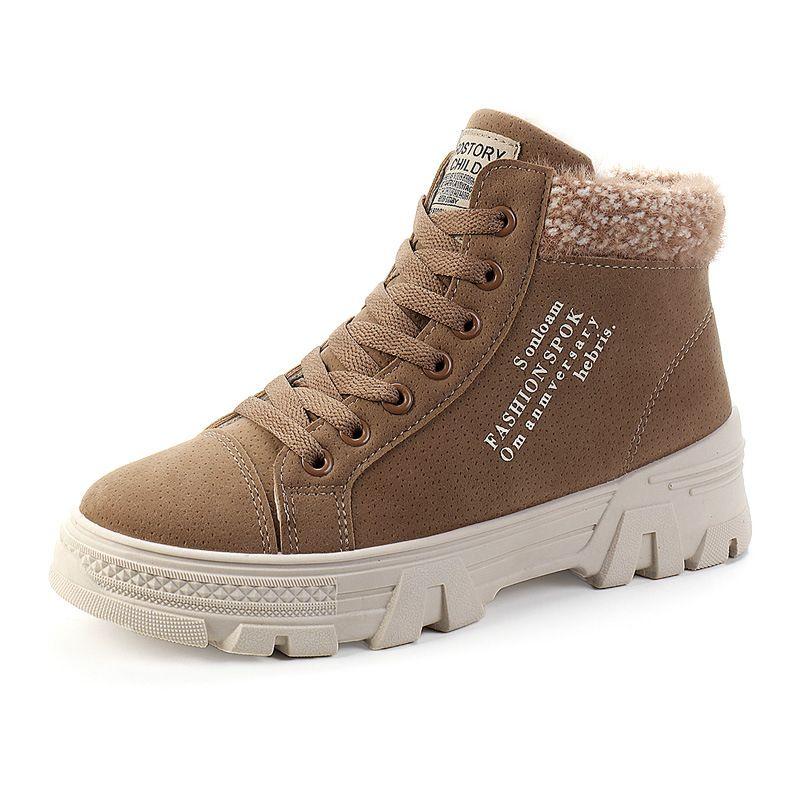Tüp botları Pamuk ayakkabı artış iç kışlık botlar sıcak kadın rahat botlar kış artı kadife platformu womens. Xdx-041