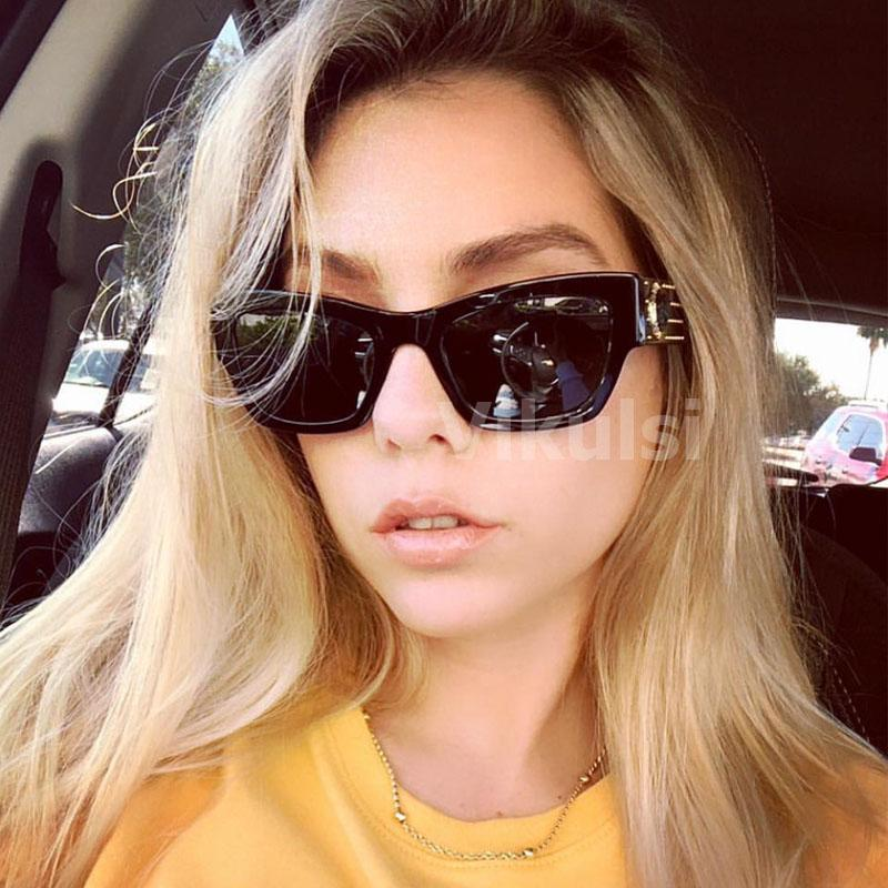 Unisex Marka Tasarımcısı Kare Güneş Kadınlar Erkekler Için Vintage Lüks Kedi Göz Güneş gözlükleri Kadın Erkek İtalya Shades UV400 2019 Yeni