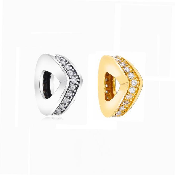 Pandora Mode service Espoir courbe Amour Scintillant Wishes clip Espace Perles Fit Pandora Bracelet Argent 925 Bijoux Glamour