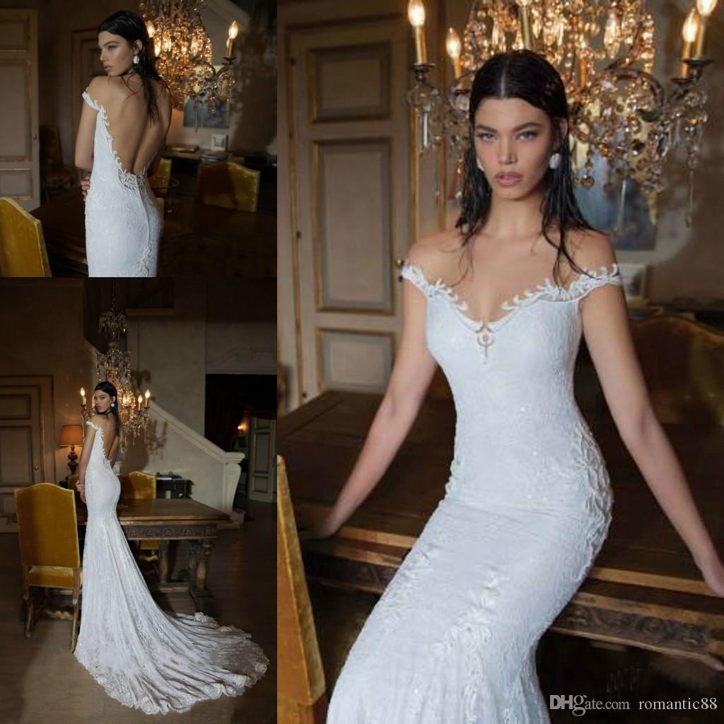 Vestito da cerimonia nuziale del merletto dell'annata di trasporto libero di Berta Nuovo arrivo Backless Haute Couture Dream Abiti da festa da sposa Vestido de noiva