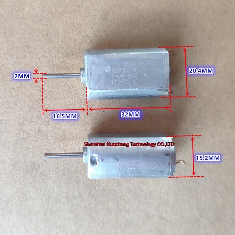 브랜드 새로운 3V 6V 9V 12V 180 마이크로 DC 모터 FF-180SH-13260 저잡음 긴 샤프트 귀금속 브러시 장난감 모터 ~