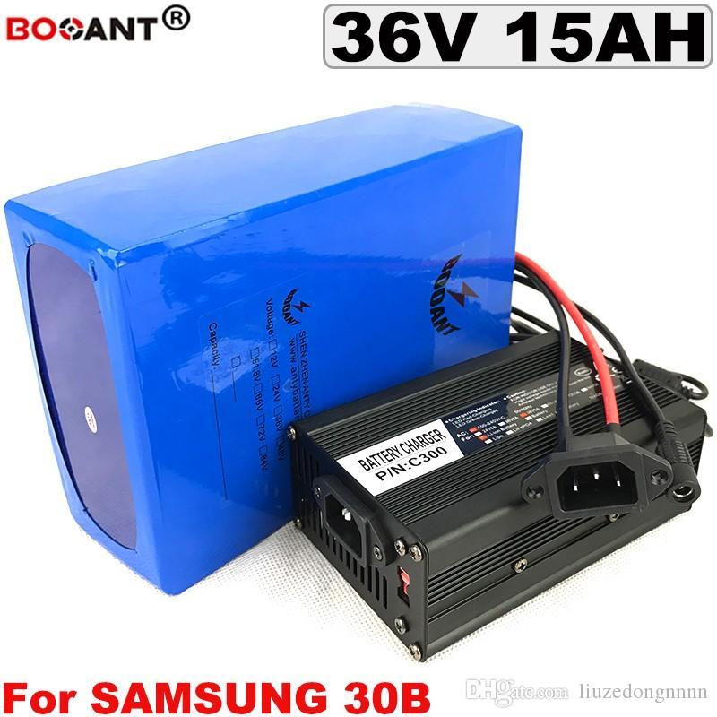 Bicicleta elétrica Bateria 36 V 15AH Para Bafang BBSHD 800 W Motor para Samsung 18650 Celular + 5A Carregador 36 v E-bike Bateria de íon de lítio