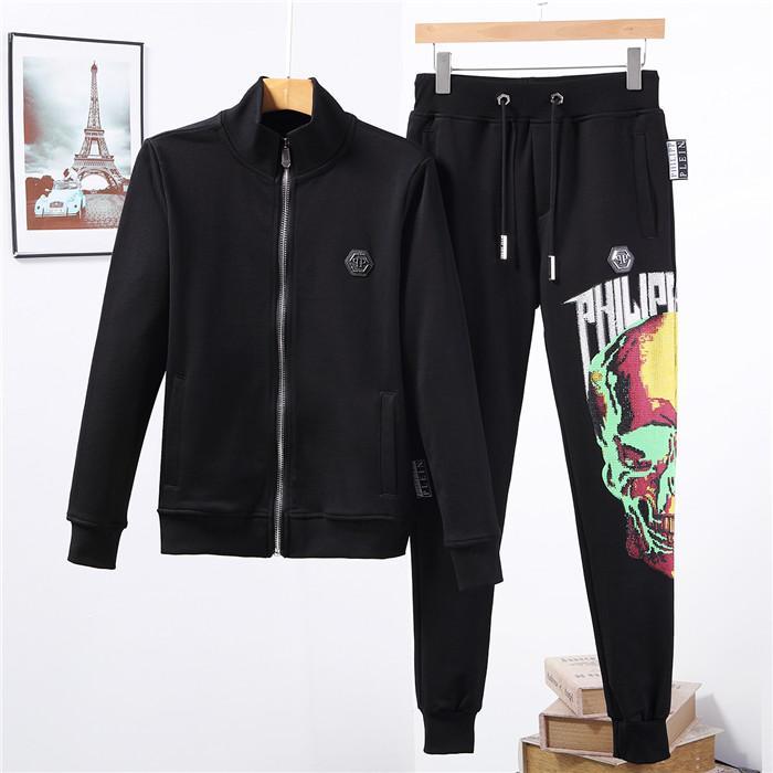 P Men's Sportswear Two Piece Set Mens Casual Hooded Sports Wear Men's P Tracksuit Training Sweat Suit Men Track Suit M-3XL