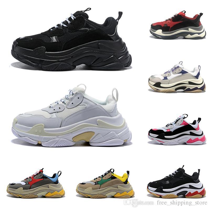 2020 balenciaga triple s zapatos de diseño para hombres mujeres zapatillas negro blanco zapatillas de deporte de lujos para hombre zapatillas deportivas de suela grande