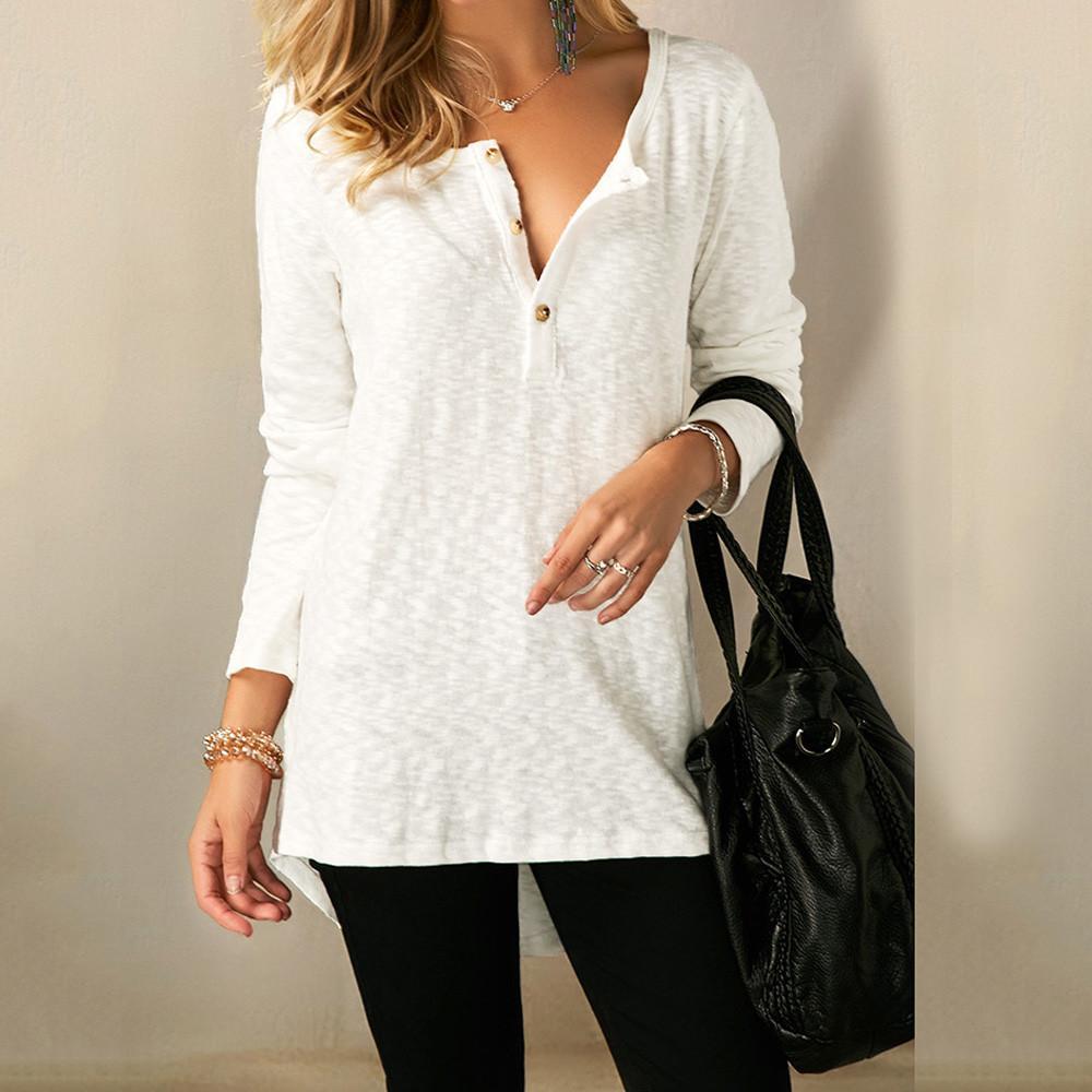 Winter Women tops Autumn Casual Design Buttons Long Sleeve girl Shirt Top blusas Cotton blend Fashion