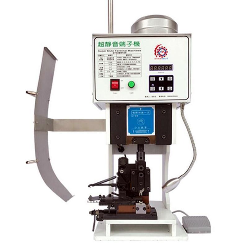 Machine automatique rabattement Cosse Pince à sertir 1.5T à faible bruit Terminal rabattement Machine pour ordinateur de fil Décapage