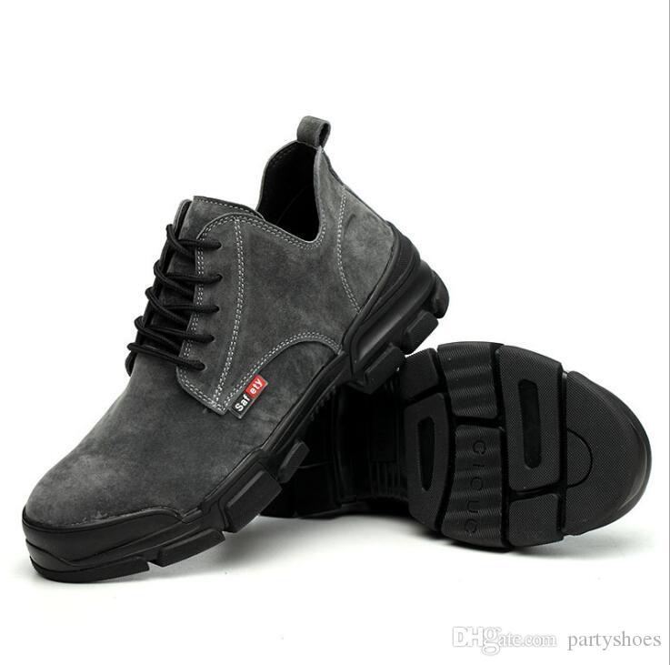 2019 Moda Man Emniyet Ayakkabı Parmak Çelik Yaz Nefes Hafif Smash Kanıtı Stab Güvenli Kaynakçı İş Güvenliği Önyükleme iş ayakkabıları