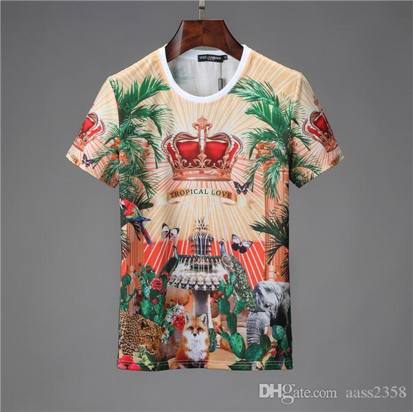 2020 summer new fashion T-shirt, casual men's Medusa T-shirt, monogram printed T-shirt short sleeve O-neck cotton comfortable M-3XL