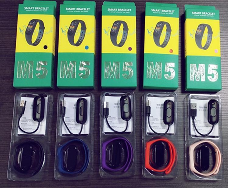 M5 Akıllı İzle Smartband Spor Spor Izci Akıllı Bileklikler Kan Basıncı Gerçek Kalp Hızı Monitörü Bluetooth Müzik Su Geçirmez