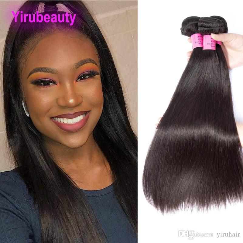بيرو شعر الإنسان المنك 3 حزم مستقيم 95-105g / قطعة اللون الطبيعي ريمي الشعر 8-30inch لحمة مزدوجة رخيصة