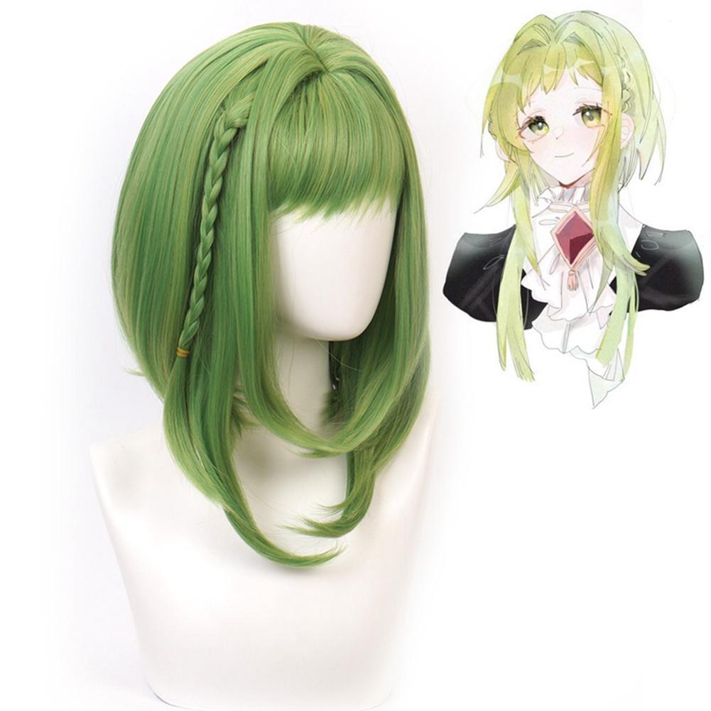 Respirante et confortable Anime perruque cosplay perruques vert synthétique droite Parti cheveux perruque caractère créativité et personnalité