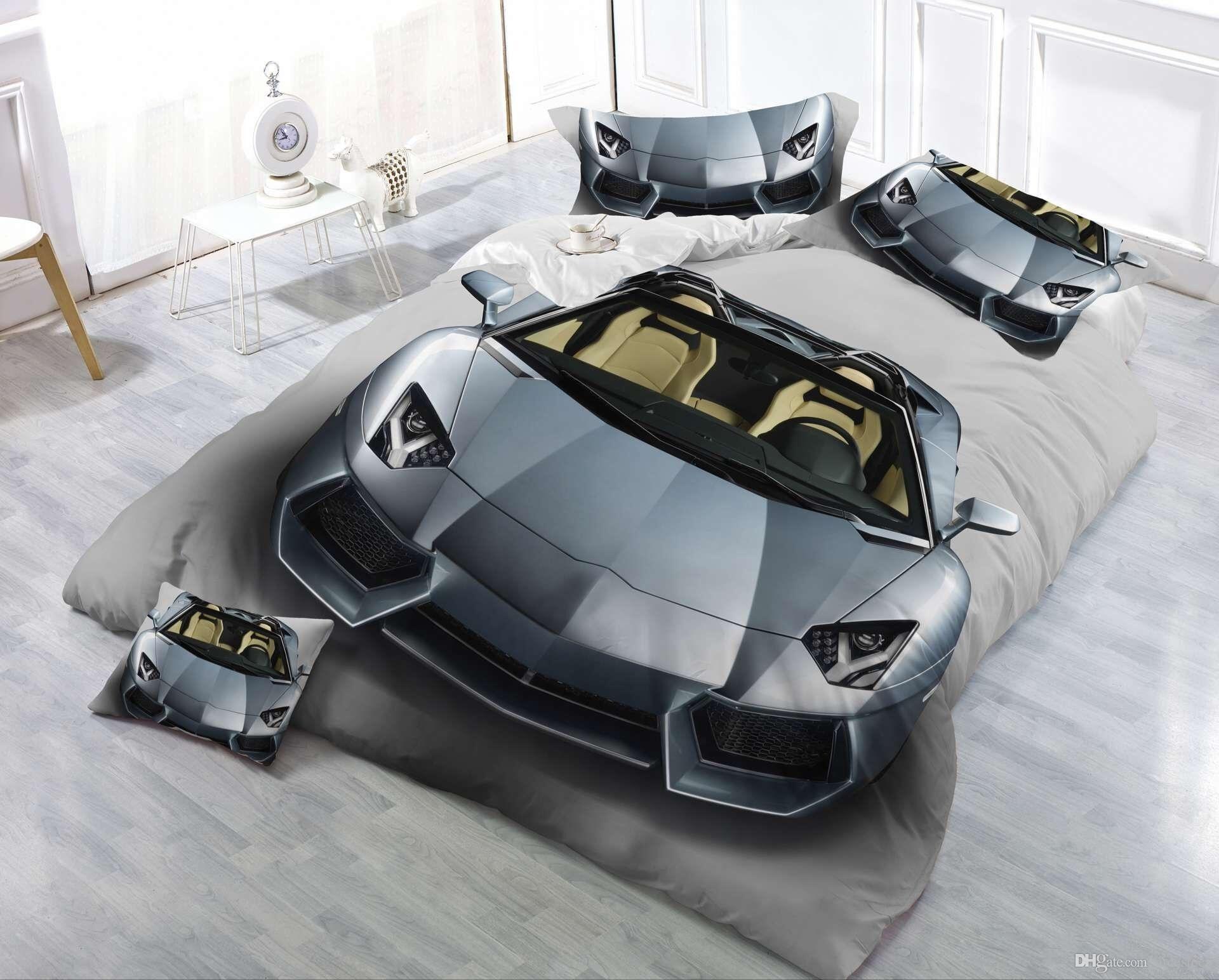 Nuovo design 3D Bedding Set Auto stampato Bedding copriletto Biancheria da letto Copripiumino Set Queen King 4PCS