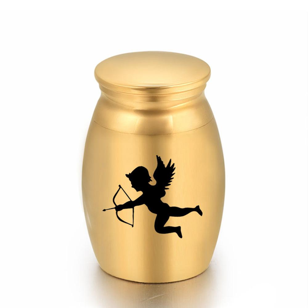 Cute Angel Cupid Funeral Urns for Human Ashes Loved Ones Keepsake Miniature Burial Funeral Urns 16x25mm