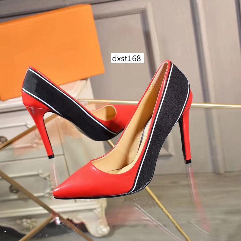 De alta qualidade mulheres Designer saltos altos partido das meninas da forma sexy sapatos pontudos sapatos de dança sapatos de casamento dobro tiras de tamanho sandálias 38