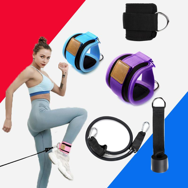 Resistance Bands With Ankle Straps Cuff With Cable For Attachment Booty BuThigh Leg Pulley Strap Lifting Fitness Exercise