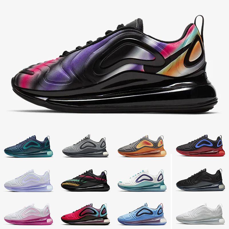 Nike Air Max 720 Nuevos zapatos para correr Air Blue Void Metallic Silver Triple Black White Hombres Mujeres Zapatos para correr University Flash White Spirit Wolf Grey 36-45 EUR