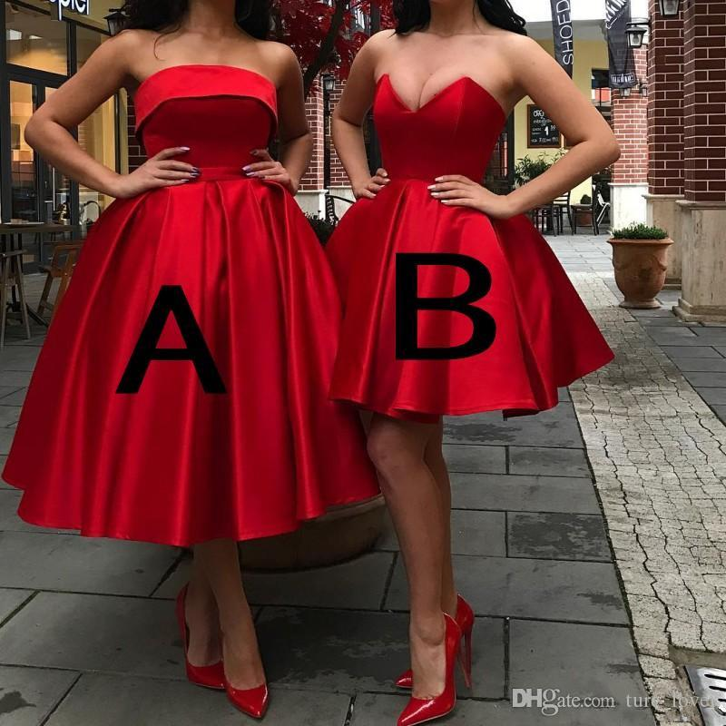Sexy Stylish Cheap Homecoming Dresses Sweetheart Neck Bodice Lace-Up Back Short Prom Dress Knee Length Satin Cocktail Party Gowns Club Wear