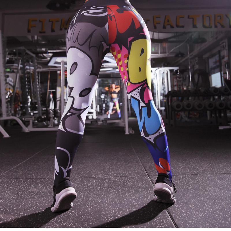 Señora Leggings holográfico de color 3D gráfico impresos a todo yoga Pantalones de longitud completa Leggings atlético del entrenamiento