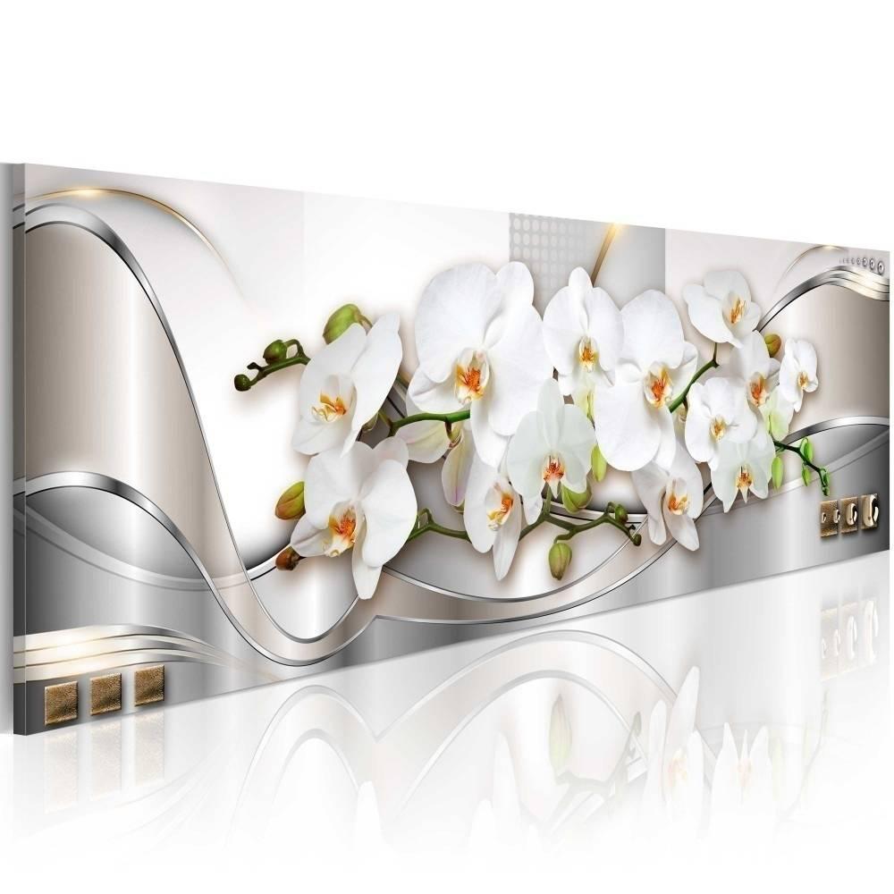 (아니 프레임) 오키드 디자인 아트 캔버스 인쇄 현대 패션 꽃 홈 장식 (ColorYellowPinkBlackSize3)