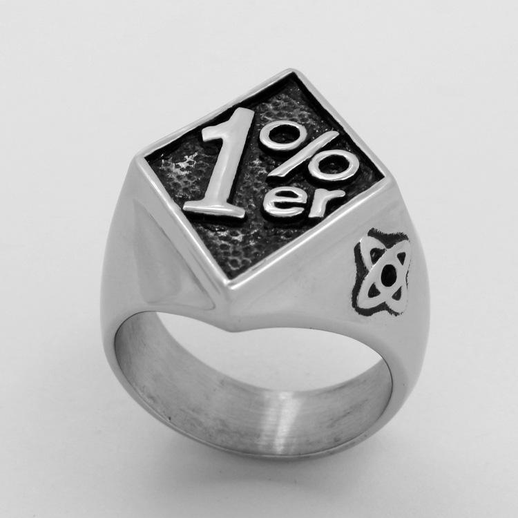 2020 neuer Punk-Stil Schmuck Casting Titan Stahl Digital-Ring-kühle Einfacher Mens Ring Spot-Großhandel Qj1063us Größe