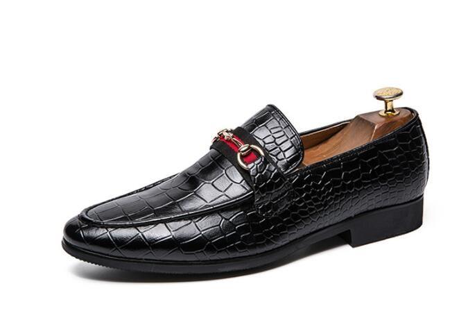 Primavera dos homens de luxo sapatos Horse de casamento masculino Oxford sapatos homens apartamentos grandes metros Tamanho: 6.5-12 339
