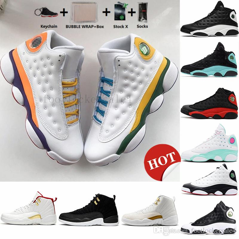 With Box New 13s Playground Equality Aurora Green Black Cat 13 Mens Basketball Shoes COURT PURPLE 12s FIBA The Master Womens Sports Sneakers