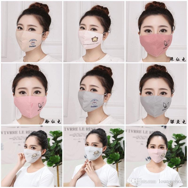 Masques de protection Visage Vélo printemps Dotted animaux Printting chaud bouche Masque unisexe respirateurs Fit air Vélo vitesse 4JY E1