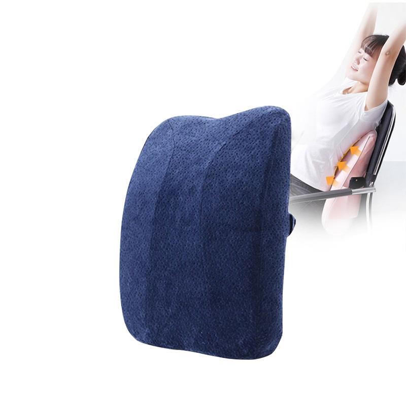 Офисный стул спинка поясничной Подушка ортопедическая конструкция для Comfort Low Back Pain Длинных поддержки Сидящих с ремешками 7010